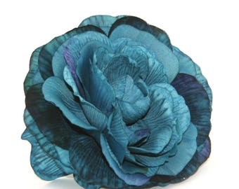 1 Jumbo Blue Ranunculus - Silk Flowers, Artificial Flowers, Flower Head