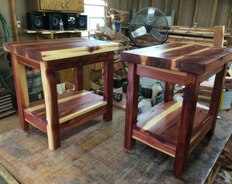 end table, night stand, side table. cedar night stand, cedar end table, rustic end table, rustic night stand