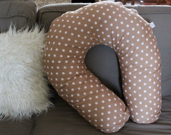 Nursing pillow beige stars