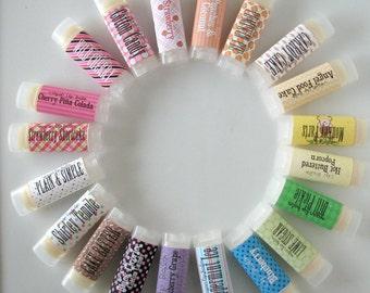 Choose Your Lip Balm Flavor -  Choose five - Vegan Lip Balm - Natural Lip Butter - bath and beauty Choose 5