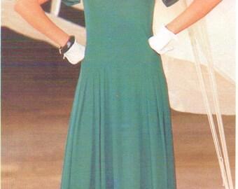 80s Jean Muir Womens Dropped Waist Dress Vogue Sewing Pattern 1414 Size 12 Bust 34 UnCut Vintage 80s Vogue Designer Original Pattern