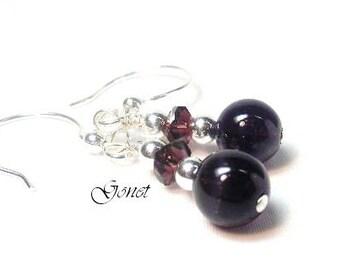 Amethyst Earrings (Amelia)  by Gonet Jewelry Design