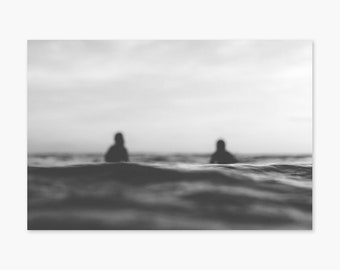 Calm Seas ~ Surf Photography, Surfing, Ocean, California, Sunset, Summer, Nature, Beach, Wall Art, Living Room, Bedroom, Monochrome