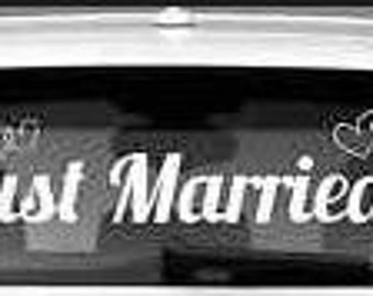 """Wedding """"Just Married"""" Window Decal approximately 40"""" long"""