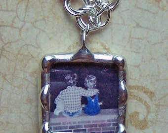 Personalized Photo Charm, Picture Frame Charm, Bracelet Size (Bracelet Not Included), Custom Made Jewelry, Silver Soldered Glass