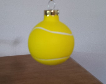 Ceramic Tennis Ball Ornament (#512)