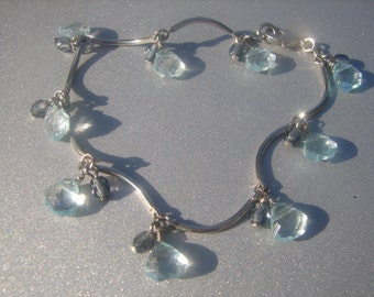Bracelet with Blue Beads 461.