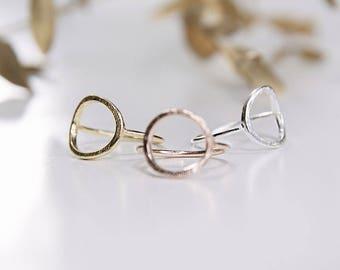 Minimalistic Round Ring Rose Gold / Gold / Silver
