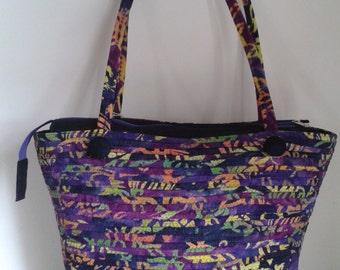 CLEARANCE Handmade Large Shoulder Bag Zip Fasten Unique