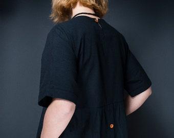 Oversized T-Shape Linen Look Dress