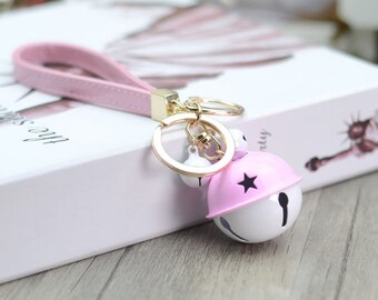 Christmas bell,Cute pink bell ,for girl friend,Macaron double Color,bell car keychain,Halloween,Christmas,New Year's best gift,for you love