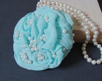 fascinator mint & pearls