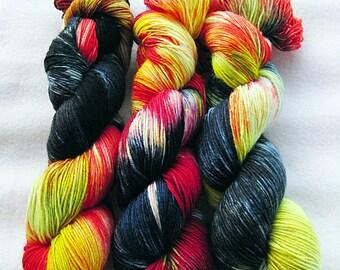 Handdyed SockYarn, 75 Wool, 25 Polyamid 100g 3.5 oz. Nr. 535