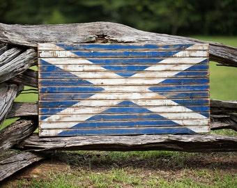 Distressed, Rustic Scotland Flag