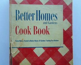 1952 Better Homes and Gardens New Cook Book - Worn