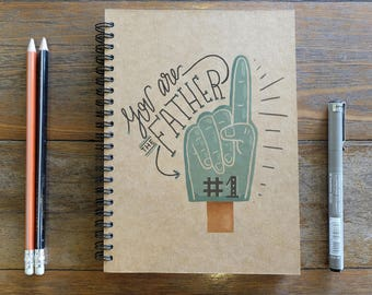 You Are The Number 1 Dad - Spiral Notebook/Sketchbook/Kraft Journal/Personalized Journal - Blank paper - 031