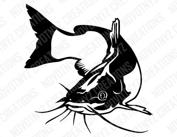 catfish svg fish svg fishing svg rh etsy com Catfish Logo Catfish Logo