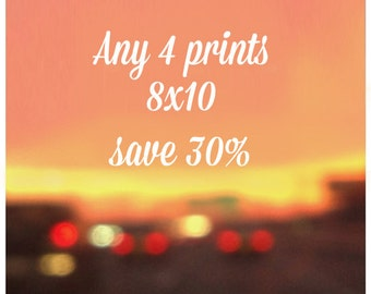 SALE - Any four 8x10 Prints - 30% off
