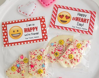 Emoji Fold Over Valentine's Day Printable