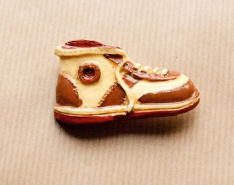 Sneaker Brooch Shoe Yellow Pin Vintage