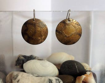Brass Honeycomb Earrings