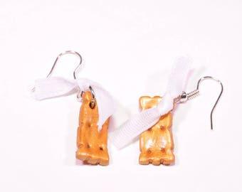 Vanilla cookie earrings