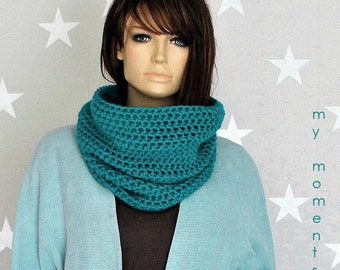 CIRCLE SCARF Merino petrol Snood