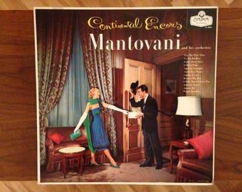 Vintage Mantovani Vinyl Album | Continental Encores