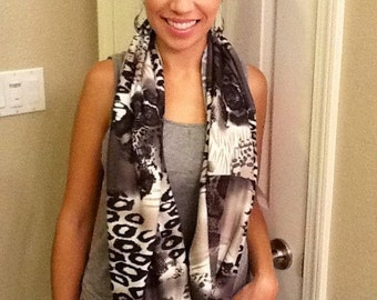 Knit, sheer, or silky INFINITY scarves