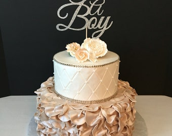 Its A Boy Cake Topper, Baby Sprinkle Cake Topper, Baby Shower Cake Topper, ANY COLOR