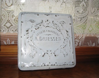 Vintage A. Driessen Dessert Chocolaad Tin