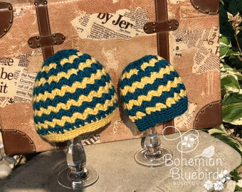 Messy Bun Hat Ponytail Hat Mother and Daughter Hats Mommy & Me Yellow Teal