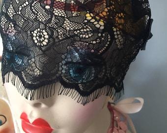Elegant Black Lace Lingerie Mask