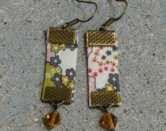 Beads and multicolored Liberty earrings