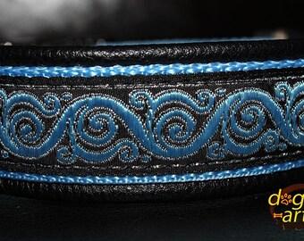 "Dog Collar ""Royal Candy"" by dogs-art, leather dog collar, dog collar leather, sparkle dog collar, metal buckle collar, boy dog collar"