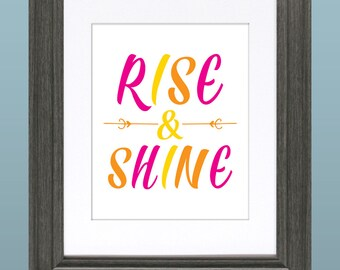 Rise & Shine 8x10 Inch Printable