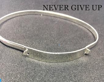 silver bracelet solid woman