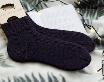 Wool socks Women wool socks Womens knitted socks Winter socks Women socks Hand knit socks Warm socks Home socks Huge socks - READY TO SHIP
