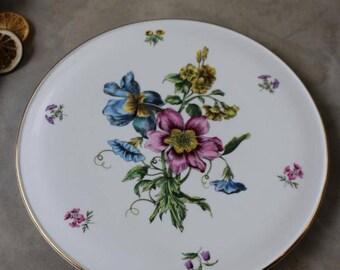 Royal Worcester Gloucester Flowers Gateau Plate