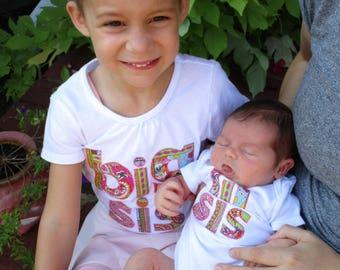 Set of 2 Big Sister/ Little Sister shirt set