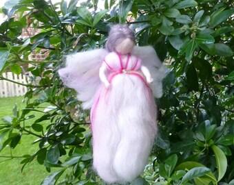 Needle felted fairy, needle felted angel, fairy decoration, angel decoration Christmas decoration