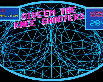 "80's John Hughes Classic Weird Science ""Give'em The Knee Shooters"" custom tee Any Size Any Color"