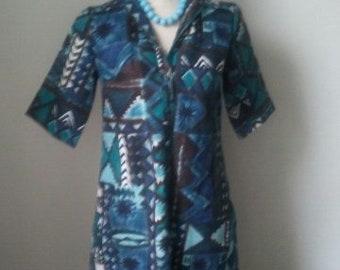 Cool Blue Vintage Summer Dress