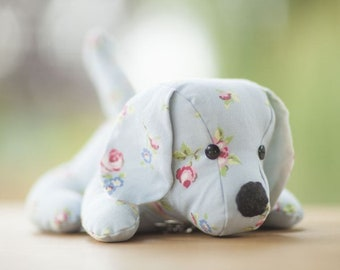 Blue Rose Bud Doggy Doorstop, Home Decor, Handmade, Fabric, Home, Home and Garden, Free Postage