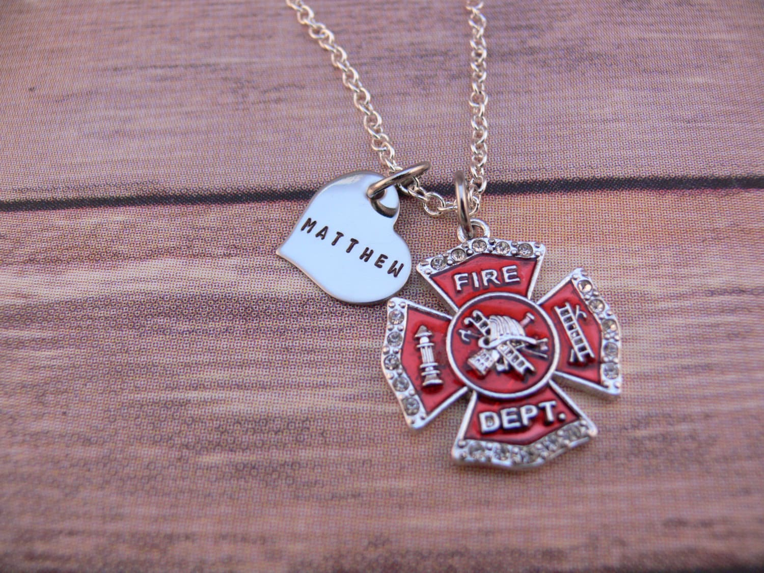 pin maltese firefighter necklace fireman of cross star pendant emt life