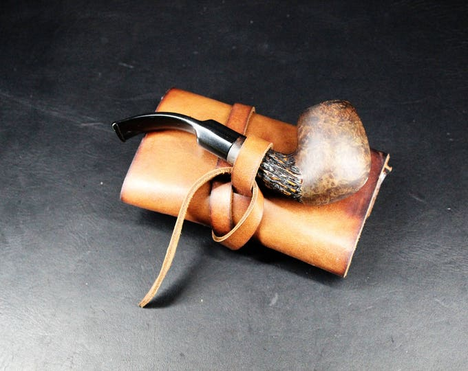 Smoke Pipe Pouch - Tobacco Pouch - Pipe Holder - Leather Accessories