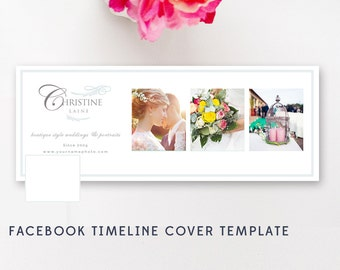 Facebook Timeline Cover - Photography Templates - Photographer Templates - Facebook Banner Design - INSTANT DOWNLOAD