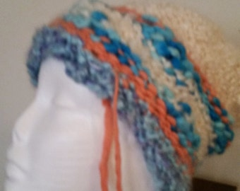 chunky hand knit hat