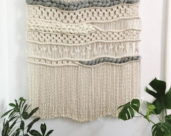 OPHELIA Customizable modern macrame wall hanging, weaving, woven wall hanging, made to order