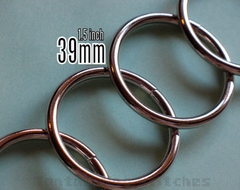 6 Pieces 1.5 inch / 39mm O Rings (available in Nickel, and Antique Brass)